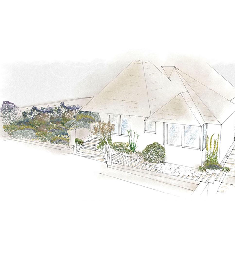 Sketch of King's Chair Garden